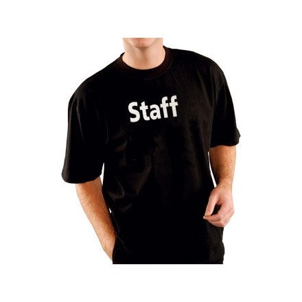 "Kitchen Staff Team T-Shirt Black Extra Large XL fit 48""-50"""